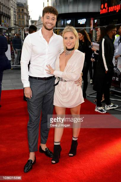 Myles Stephenson and Gabby Allen attend the World Premiere of 'The Intent 2 The Come Up' at Cineworld Leicester Square on September 19 2018 in London...