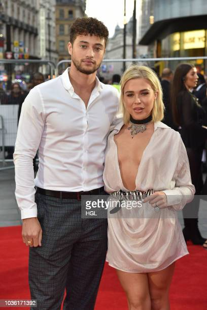 Myles Stephenson and Gabby Allen attends the World Premiere of 'The Intent 2 The Come Up' at Cineworld Leicester Square on September 19 2018 in...