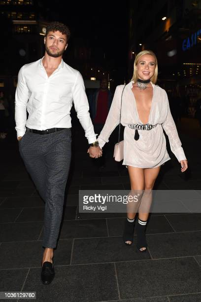 Myles Stephenson and Gabby Allen seen attending The Intent 2 The Come Up world film premiere on September 19 2018 in London England