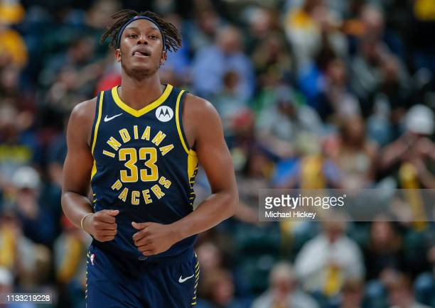Myles Turner of the Indiana Pacers is seen during the game against the Denver Nuggets at Bankers Life Fieldhouse on March 24 2019 in Indianapolis...