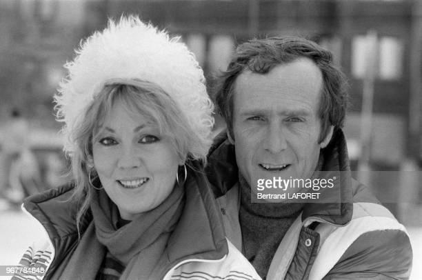Mylène Demongeot et son mari Marc Simenon au Festival d'Avoriaz le 23 janvier 1982 France