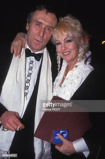 Mylène Demongeot et son mari Marc Simenon lors d'une soirée à Paris en décembre 1992 France