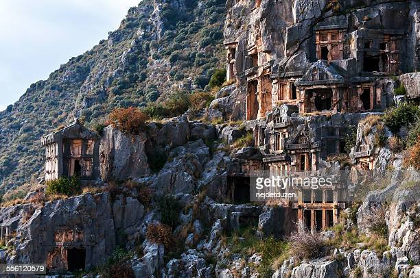 myra ancient city - st. nicholas stock photos and pictures