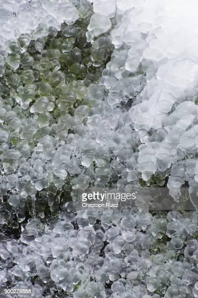 Myra Falls, icy waterfall in winter, Piestingtal, Lower Austria, Austria
