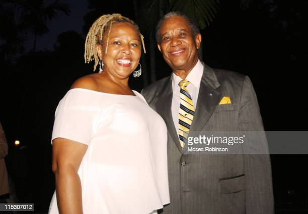 Myra J actress/comedian and Sir Orville Turnquest Former Governor General of the Commonwealth of Bahamas