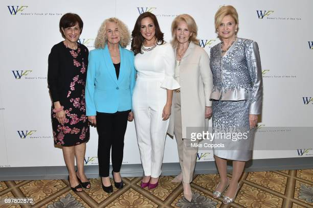 Myra J Biblowit Composer Carole King Teresa Priolo Daryl Roth and Congresswoman Carolyn B Maloney attend The 7th Annual Elly Awards at The Plaza...