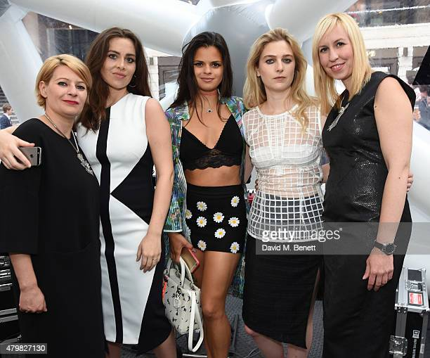 Myra Nigris Cicely Goulder Bip Ling Christina Wood and Helen Clinch attend the exclusive opening of HEMYCA's popup on the openair terrace of...