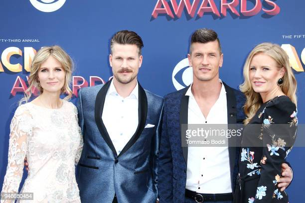 Myranda Rempel musical group High Valley members Curtis Rempel and Brad Rempel and Rebekah Rempel attend the 53rd Academy of Country Music Awards at...
