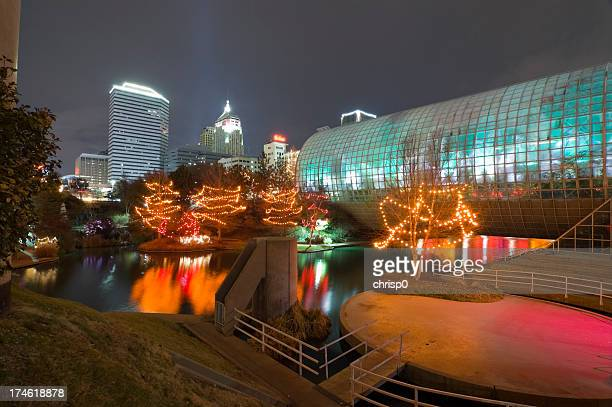 myriad gardens and oklahoma city - oklahoma city stock pictures, royalty-free photos & images
