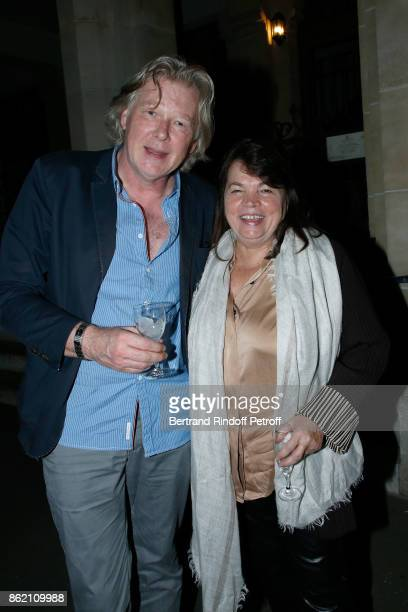 Myriam Boyer and her huband Philippe Vincent attend the One Woman Show by Christelle Chollet for the Inauguration of the Theatre de la Tour Eiffel...