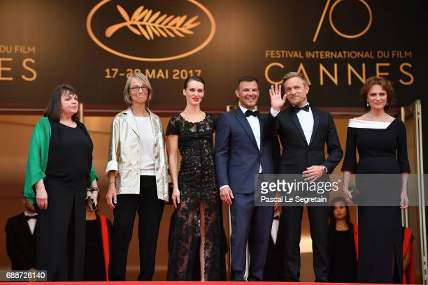 Myriam Boyer French minister of Culture Francoise Nyssen Marine Vacth director Francois Ozon Jeremie Renier and Jacqueline Bisset attend 'Amant...