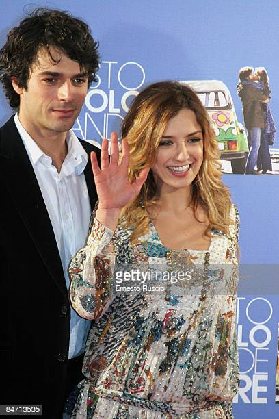 Myriam Catania and Luca Argentero attend Questo Piccolo Grande Amore charity premiere on February 9 2009 in Rome Italy