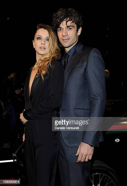 Myriam Catania and Luca Argentero attend the 550 by Gucci launch party during the Milan fashion week womenswear Autumn/Winter 2011on February 23 2011...