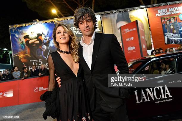 Myriam Catania and Luca Argentero attend the 'E La Chiamano Estate' premiere during the 7th Rome Film Festival on November 14 2012 in Rome Italy