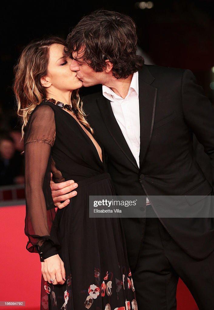 Myriam Catania and Luca Argentero attend the 'E La Chiamano Estate' Premiere during the 7th Rome Film Festival at the Auditorium Parco Della Musica on November 14, 2012 in Rome, Italy.