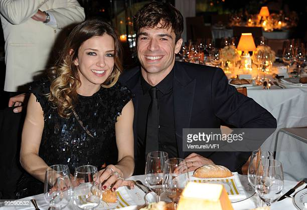 CANNES FRANCE MAY 15 Myriam Catania and Luca Argentero attends the Vanity Fair and Gucci Party Honoring Martin Scorsese during the 63rd Annual Cannes...
