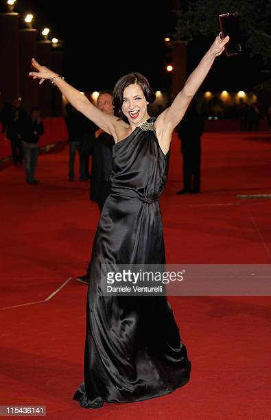 Myriam Catania attends a premiere for 'L'uomo Privato' during day 7 of the 2nd Rome Film Festival on October 24 2007 in Rome Italy