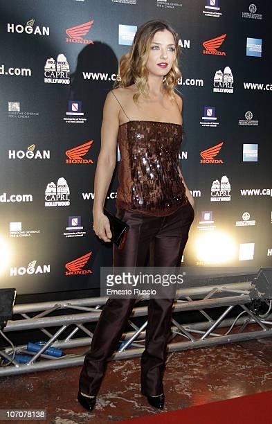 Myriam Catania attends the La Donna Della Mia Vita premiere at Barberini Cinema on November 22 2010 in Rome Italy