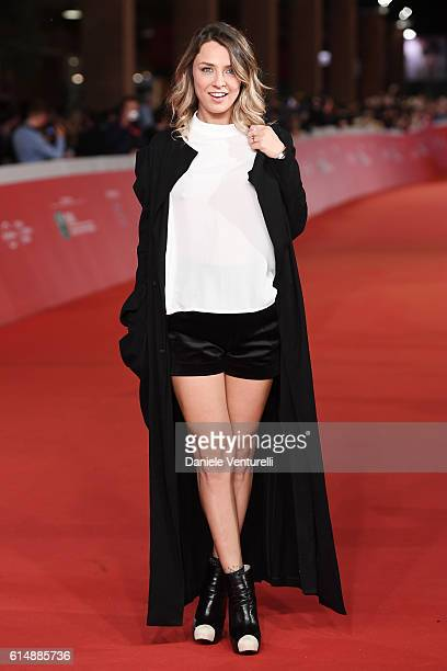 Myriam Catania walks a red carpet for 'Sole Cuore Amore' during the 11th Rome Film Festival at Auditorium Parco Della Musica on October 15 2016 in...