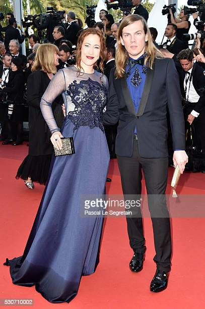 Myriam Charleins and designer Christophe Guillarme attend the 'Cafe Society' premiere and the Opening Night Gala during the 69th annual Cannes Film...