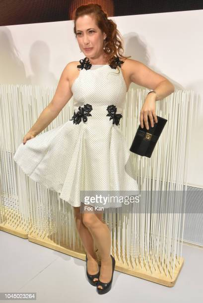 Myriam Charleins attends the Christophe Guillarme show as part of the Paris Fashion Week Womenswear Spring/Summer 2019 on October 2 2018 in Paris...