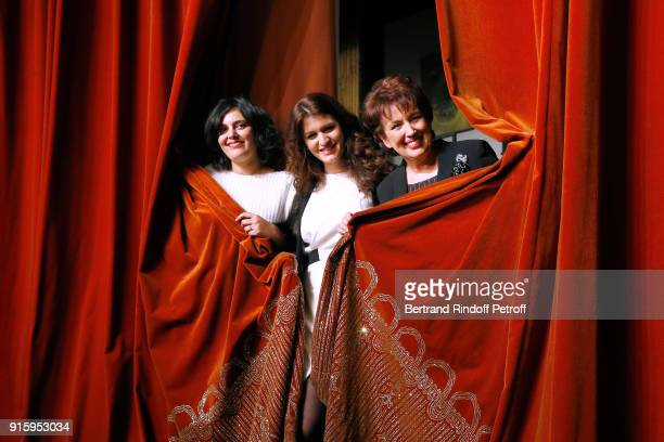 """Myriam El Khomri, State Secretary for Equality between Women and Men, Marlene Schiappa and Roselyne Bachelot; They will play the """"Vaginal Monologues..."""