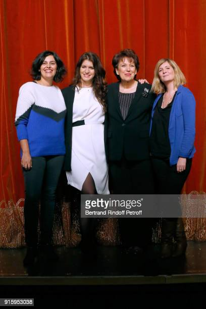 """Myriam El Khomri, State Secretary for Equality between Women and Men, Marlene Schiappa, Roselyne Bachelot; They will play the """"Vaginal Monologues -..."""