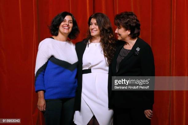 Myriam El Khomri State Secretary for Equality between Women and Men Marlene Schiappa and Roselyne Bachelot They will play the Vaginal Monologues Les...