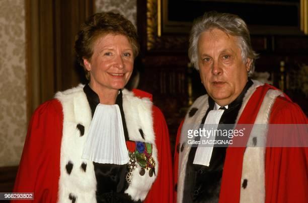 Myriam Ezratty et Pierre Truche nommes respectivement 1er president de la cour d'appel de Paris et procureur general de la cour d'appel de Paris le...