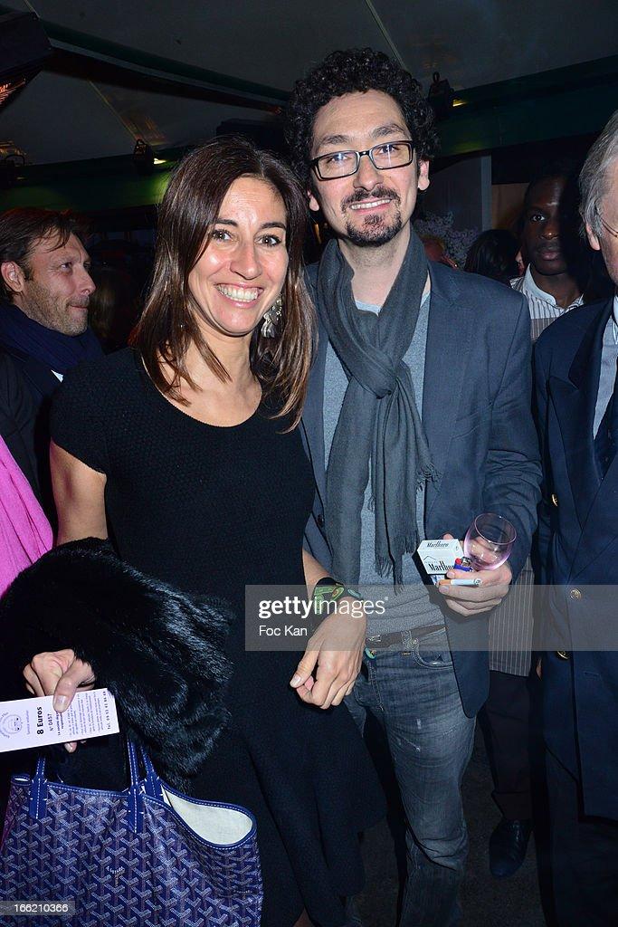 Myriam Kournaf and David Foenkinos attend La Closerie Des Lilas Literary Awards 2013 - 6th Edition At La Closerie Des Lilas on April 9, 2013 in Paris, France.