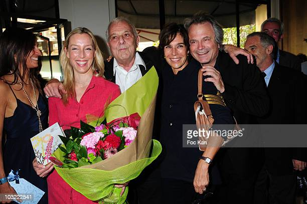 Myriam Kournaf from Hotel Montalembert, writers Adelaide de Clermont Tonnerre, Philippe Sollers, Christine Orban and Franz Olivier Giesbert attend...