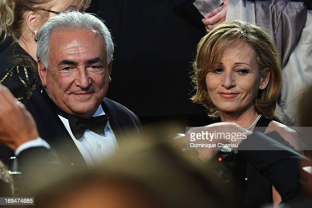 Myriam L'Aouffir and Dominique StraussKahn attend the Premiere of 'Only Lovers Left Alive' during the 66th Annual Cannes Film Festival at the Palais...