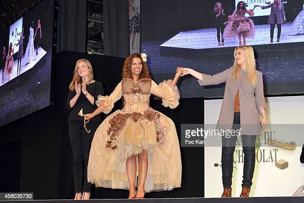 Myriam Seurat and stylists attend the 'Salon Du Chocolat Chocolate Fair 20th Anniversary' At the Parc des Expositions Porte de Versailles on October...