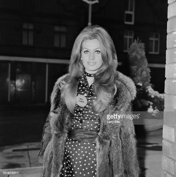 Myriam Stocco Miss France at the Miss World 1971 pageant in London 6th November 1971