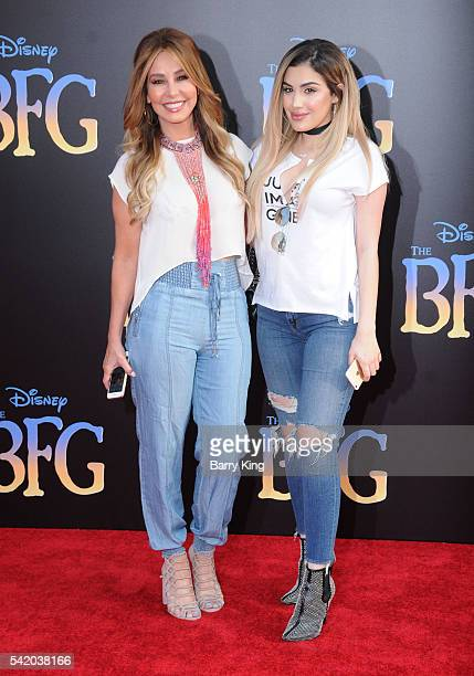 Myrka Dellanos and Alexis Dellanos attend the premiere of Disney's' 'The BFG' at the El Capitan Theatre on June 21 2016 in Hollywood California