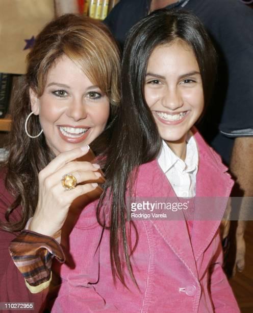 Myrka Dellanos and her daughter Alexia during Myrka Dellanos Signs Her Book Triunfa y Se Feliz at Books and Books in Miami October 8 2005 at Books...
