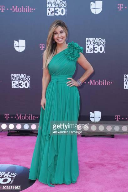 Myrka Dellanos attends Univision's 30th Edition Of Premio Lo Nuestro A La Musica Latina at American Airlines Arena on February 22 2018 in Miami...