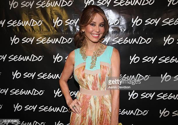 Myrka Dellanos attends Yo Soy Segundo at New World Center on February 12 2013 in Miami Beach Florida