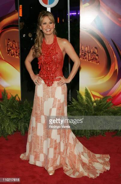 Myrka Dellanos during 2005 Premio Lo Nuestro Awards Red Carpet at American Airlines Arena in Miami Florida United States