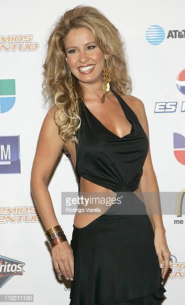 Myrka Dellanos during Premios Juventud Awards Press Room at James L Knight Center in Miami Florida United States