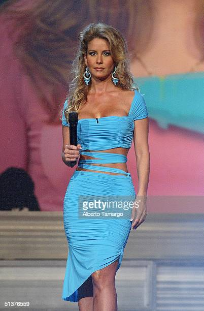 Myrka Dellanos onstage at the 1st Annual Premios Juventud Awards at the James L Knight Center September 23 2004 in Miami Florida Premios Juventud is...