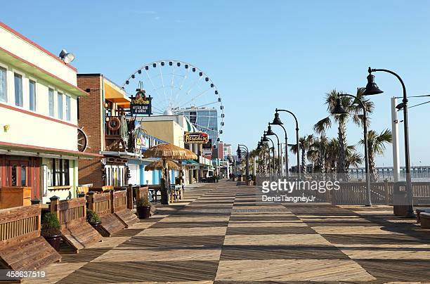 myrle beach - boardwalk stock pictures, royalty-free photos & images