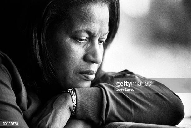 Myrlie Evers widow of slain civil rights leader Medgar Evers musing over the possiblity of a new trial for his acquitted accused killer Byron de la...