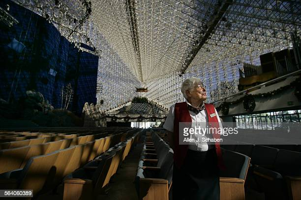 Myrna Beach, volunteer greeter, who knew Crystal Cathedral Orchestra conductor, Johnnie Carl who killed himself early Friday morning at the Crystal...