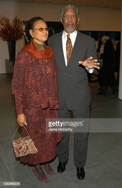 """Myrna Colley-Lee and Morgan Freeman during """"Million Dollar Baby"""" New York City Premiere - Arrivals at Museum Of Modern Art in New York City, New..."""