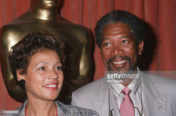 Myrna Freeman and Morgan Freeman during The Annual Academy Awards Oscar Nominees luncheon at The Beverly Hilton Hotel in Beverly Hills, CA, United...