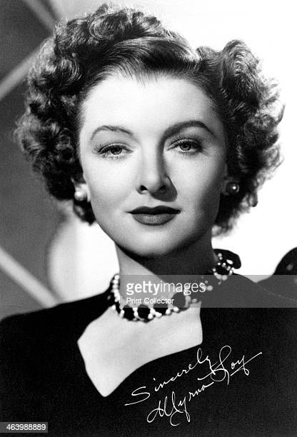 Myrna Loy American actress c1930sc1940s Signrd photograph Loy began her career playing bit parts in movies among them the silent version of BenHur...