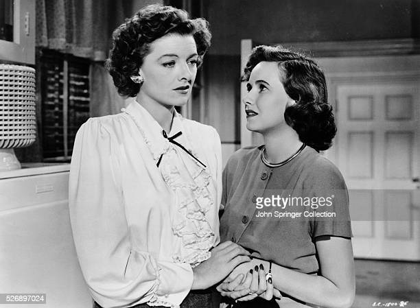 Myrna Loy as Milly Stephenson and Teresa Wright as Peggy Stephenson in the 1946 motion picture classic The Best Years of Our Lives