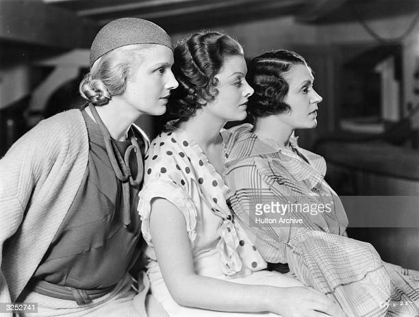 Myrna Loy playing a successful novelist who falls in love with her married publisher with Ann Harding and Alice Brady in ' When Ladies Meet' Title...