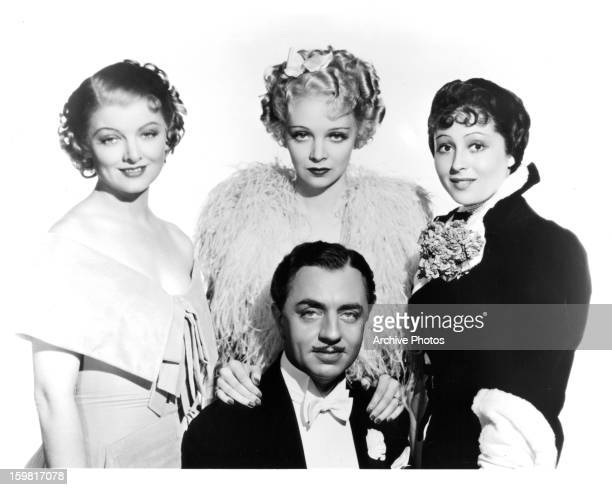 Myrna Loy William Powell and Luise Rainer from the film 'The Great Ziegfeld' 1936
